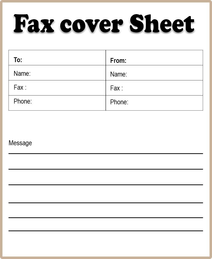 Blank Fax Cover Sheet PDF