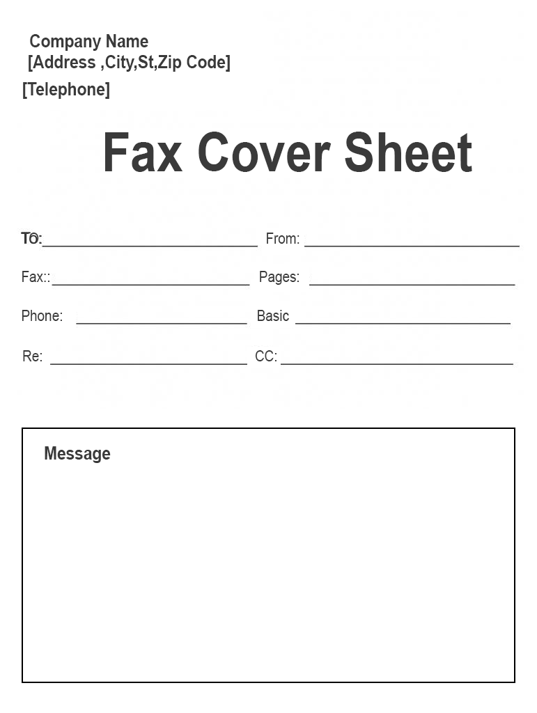 Personal Fax Cover Sheet PDF