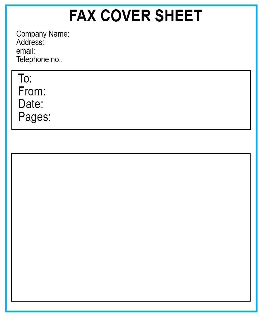 Standard Fax Cover Sheet Template